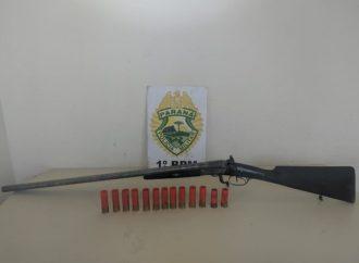 Com posse ilegal de arma de fogo, homem é preso em Ponta Grossa