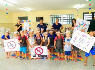 Alunos das escolas municipais de PG combatem Coronavírus e também a Dengue
