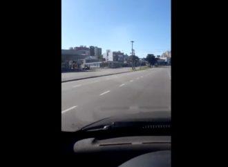 Vídeo exclusivo mostra cidade argentina com ruas vazias após decreto de quarentena total