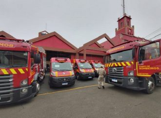 Vídeo: Ponta Grossa recebe novas viaturas para o Corpo de Bombeiros