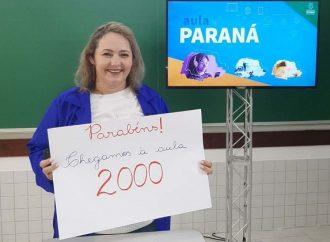 """Programa """"Aula Paraná"""" atinge 2 mil transmissões para todo o estado"""
