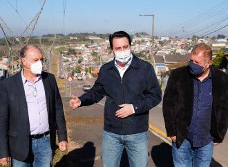 Obra em principal via de Campo Magro permite desenvolvimento do município