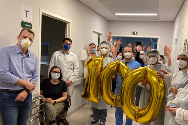 Vídeo: Hospital da Unimed em PG atinge marca de 100 pacientes recuperados da COVID-19