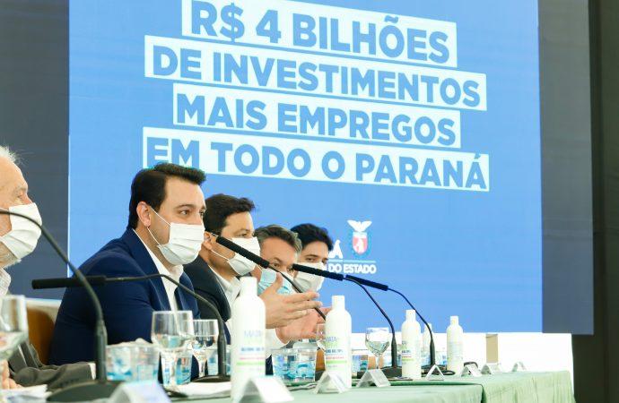 Governador Ratinho Junior anuncia programa de R$ 4 bilhões para obras no Paraná