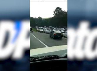 Vídeo mostra estacionamento do Recanto dos Papagaios, em Palmeira, lotado neste final de semana