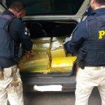 PRF apreende mais de 330kg de maconha em veículo furtado em Ponta Grossa