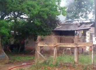 Vídeo: Incêndio na região do San Martin deixa homem ferido em estado grave